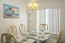 Dining area ideal for family meals and memories.