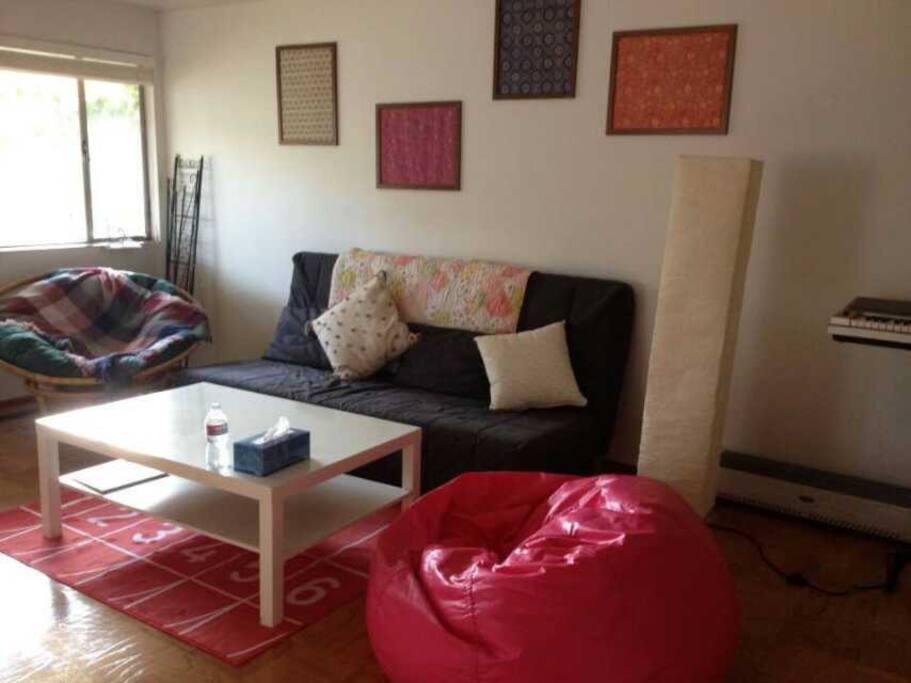 Living room, a big sofa bed