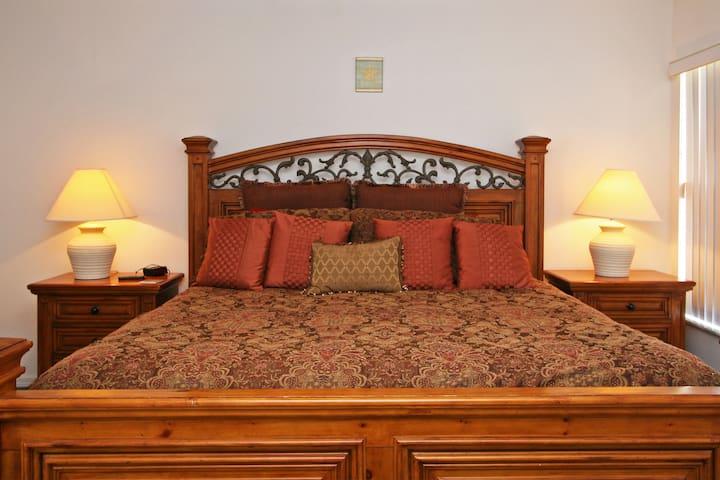 King master bed.