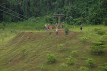 Zip Line, only $10.00 for 4 rides @ Complejo Deportivo 7879422867
