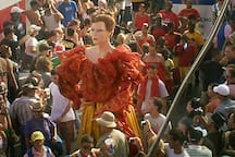 La Titina giant, representative or local women at the Annual Calf's Festival