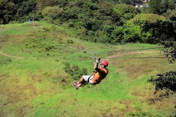 Zip Line, only $10.00 - 4 different rides at Complejo Deportivo, only 10 min away from San Sebastian Bed & Breakfast 7879422867