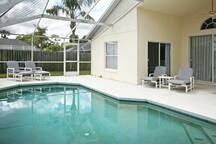 Relax by the pool or have fun splashing around.