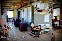 Exhibition Area at Hacienda la Fe, 10 min away from San Sebastian Bed & Breakfast, Puerto Rico