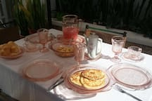 Breakfast at San Sebastian Bed & Breakfast