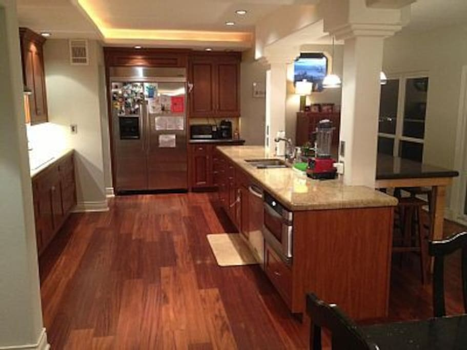 huge kitchen with every thing you can imagine