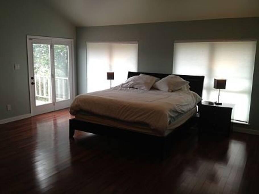 airy huge master bedroom