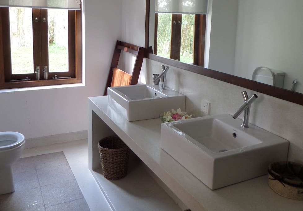 The lovely Ensuite bathroom in the room.
