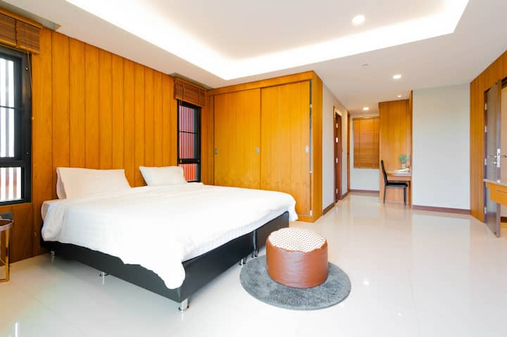 Private 110sqm 2bedrooms♨Wooden Decor☞Thai/Eng/中文☺