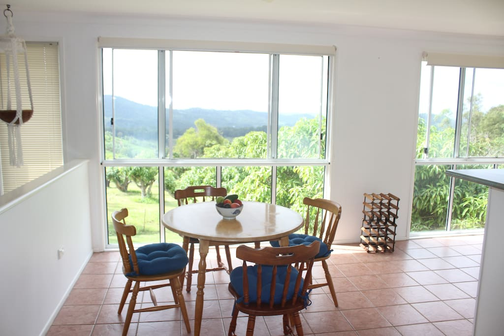 Dining room with views for miles.