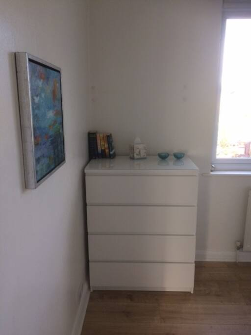 Chest of Drawers with hair dryer