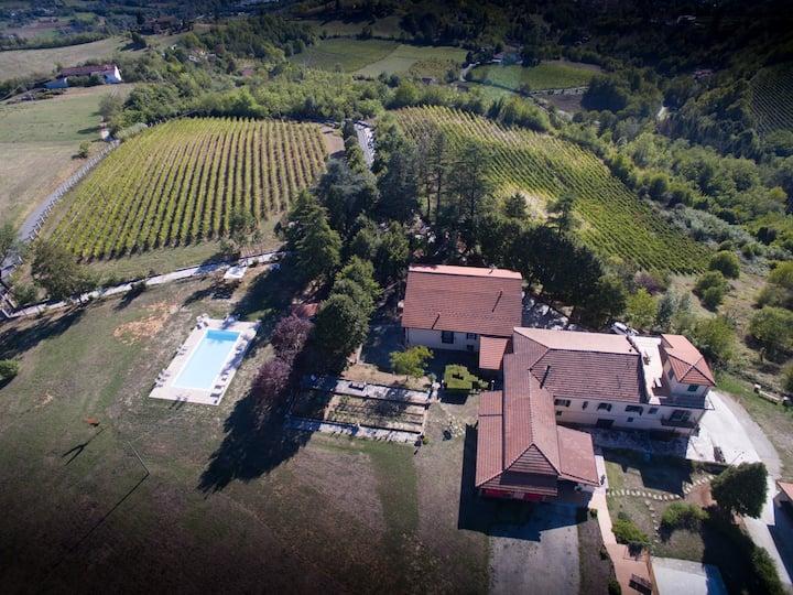 Casa con vista a 360° e piscina esclusiva