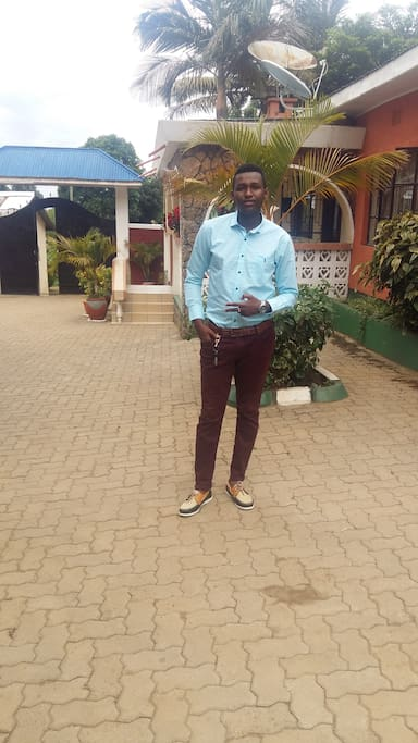 This is me enjoying the weather around the compound which is at the bottom of mount meru. Ur all mostly welcome.