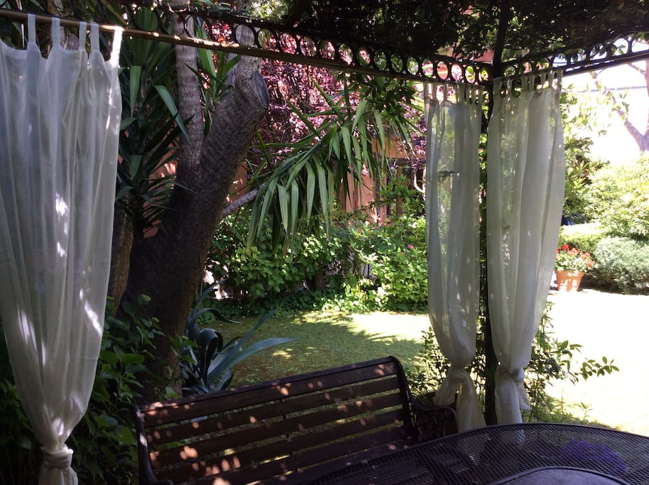 The gazebo in the garden