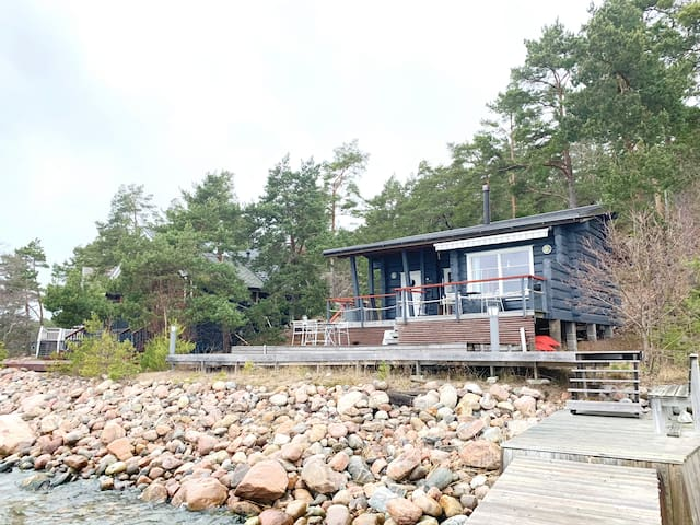 Nordic seaside cottage
