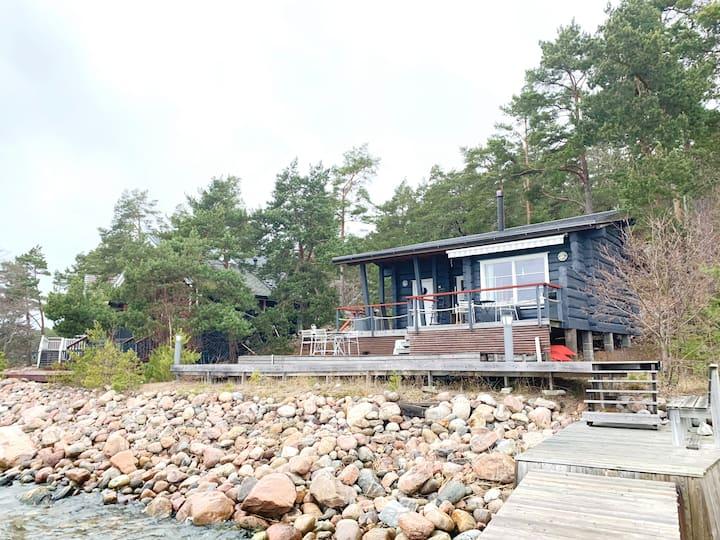 Nordic seaside cottage