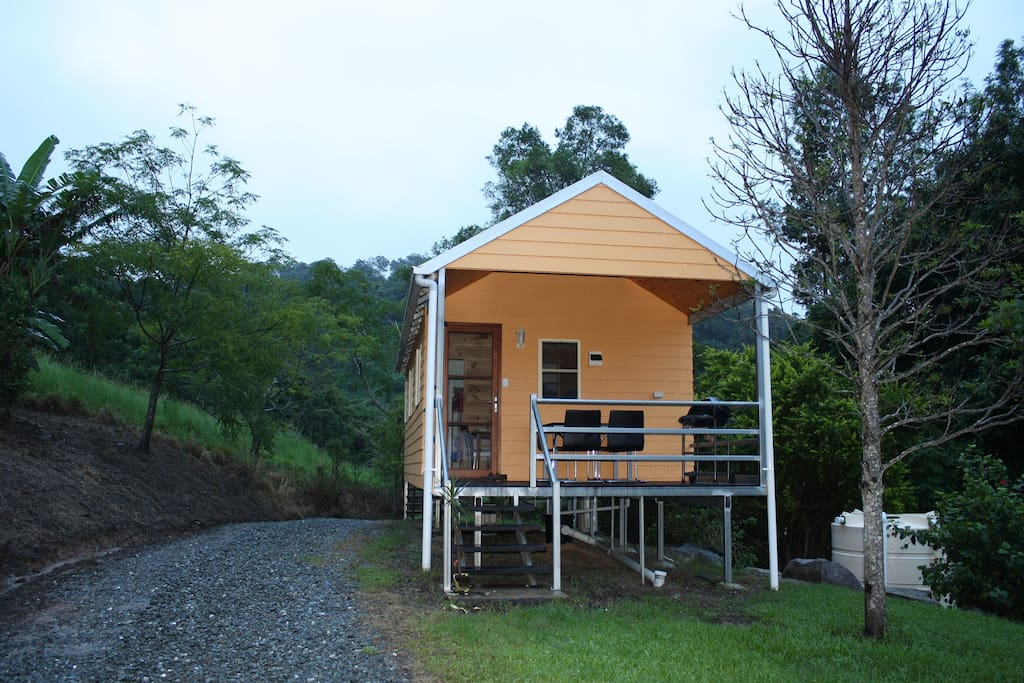 Front view of the guesthouse, 42 m2