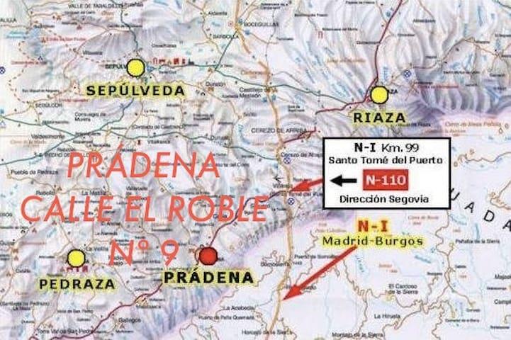 Habitación privada en Pradena, Segovia. - Prádena - Dům