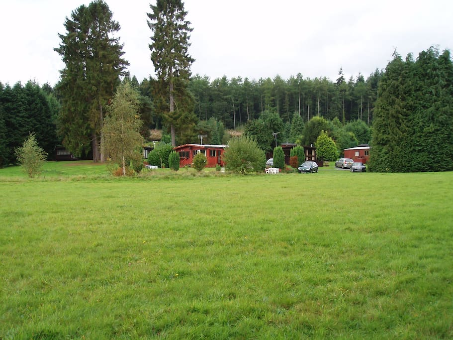 Located in a tranquil woodland setting