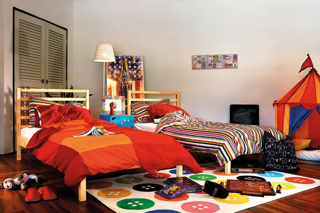 Never lose that child-like wonder with a room that comes with two single-sized beds that will keep your imagination running and your heart racing. Luckily it's not school night.