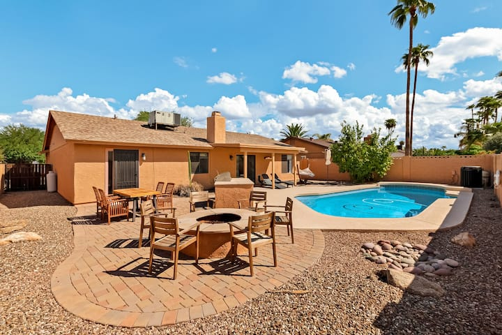 Newly furnished vacation home w/ private pool & backyard activities!
