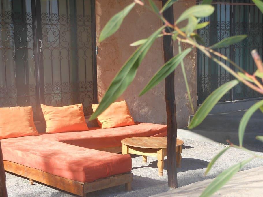 terrasse villa 2 chambres Dar Achorafa
