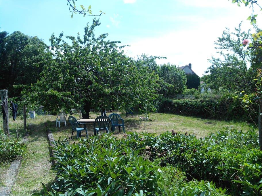 Le jardin exposé Sud.