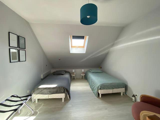 Mezzanine, possibilité 3ème lit