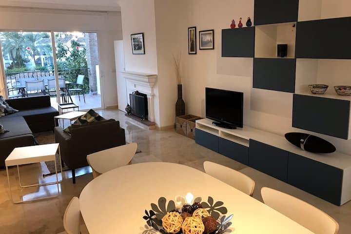 Marbella - Estepona renovated beachside 2-bedroom
