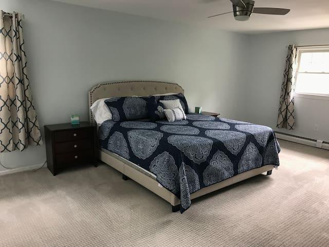 Master bedroom King bed  Attached bathroom