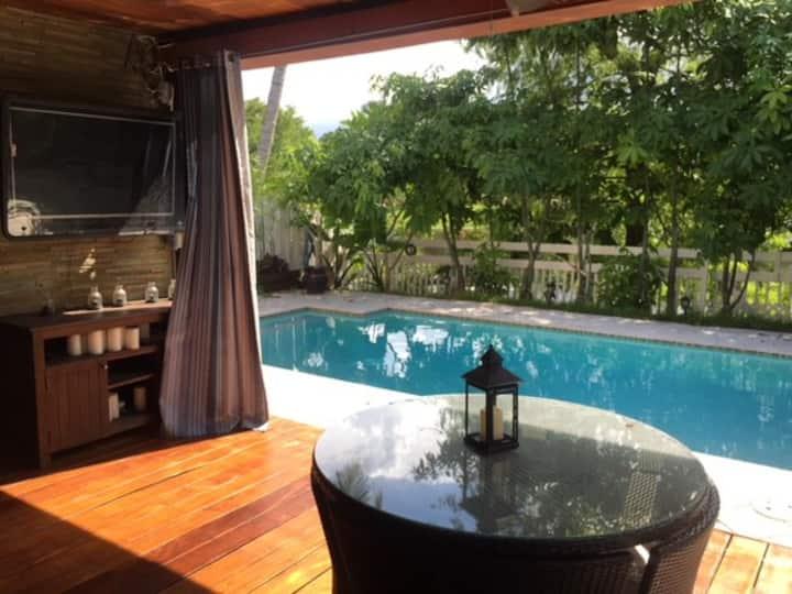 Tropical Resort Pool Home