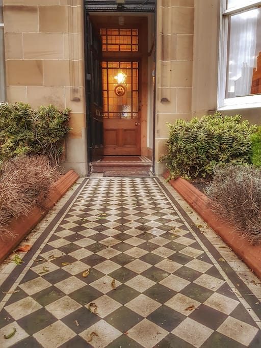 A welcoming home awaits my guests through the private front garden and main door of the property.
