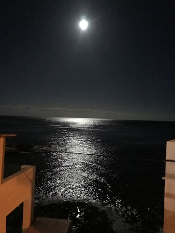 Full moon from the terrace