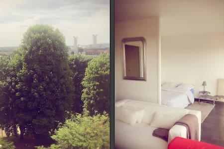 Studio, vue imprenable sur Rouen et parking privé