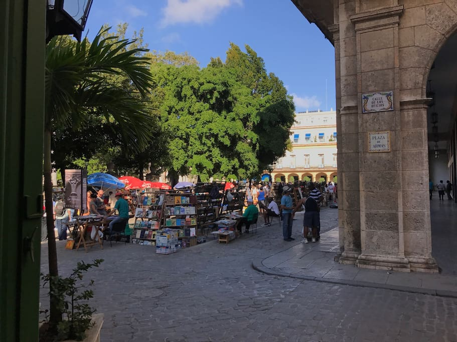 The house is steps away from Plaza de Armas and its typical books shops
