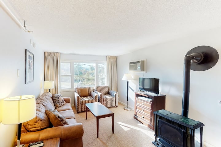 Fun skiers condo with shared pool and hot tub access, full kitchen, and futon!
