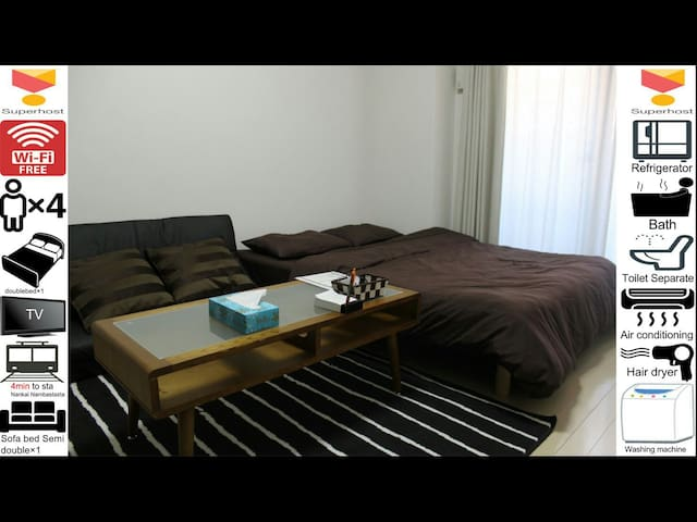 #1 opensale Nambasta 5min  free Wifi good location - 大阪市 - Apartamento