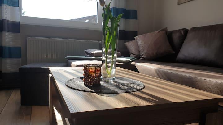 Helle und komfortabel eingerichtete 60 qm-Wohnung