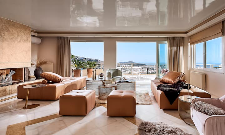 Peonie: an Elegant Maisonette with Panoramic View