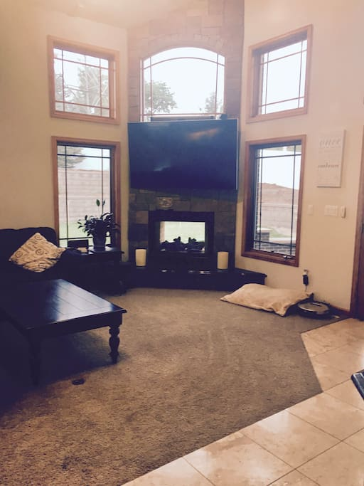 Family Room right off the kitchen