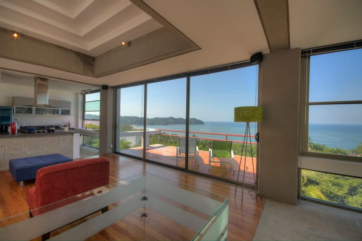 Pacific Modern with spectacular ocean view - Sayulita - Betjent leilighet