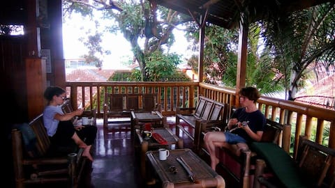 Teak house, space to relax