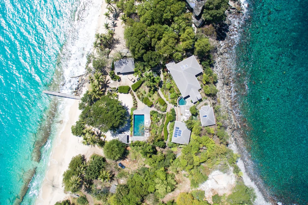 Aerial view of Sandrock villa
