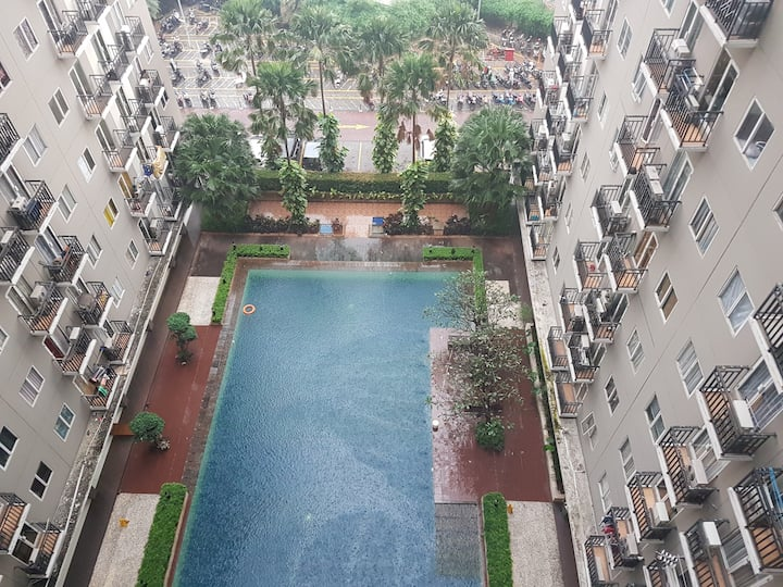 2BR @ Puri Park View, Pool View **MUST submit ID**