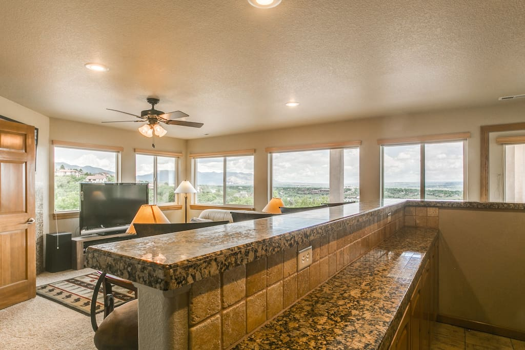 Panoramic view from living area