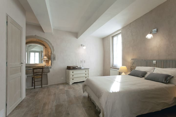 Chambre parentale, Douche italienne - Calvisson - Ev