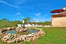 Rasenfläche mit kleinen Teich  im-web.de/ Mallorcareise SL