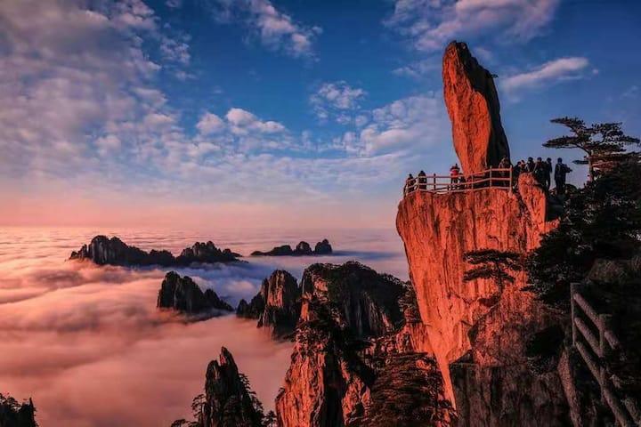 距登山入口600米观景三居室合家欢山景房(可做饭)