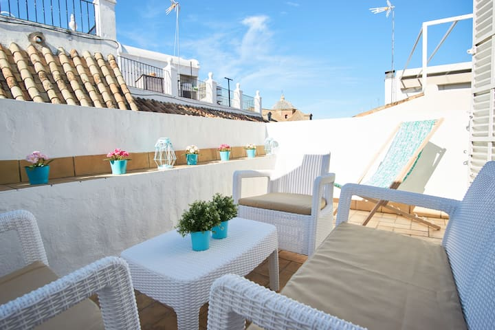 Espectacular loft con terraza privada y parking