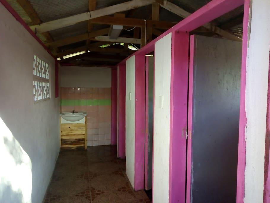 Basic but clean shared bathroom
